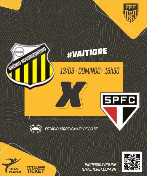 NOVORIZONTINO X SAO PAULO FC