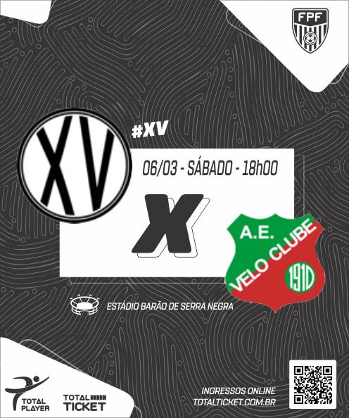 XV PIRACICABA X VELO CLUBE